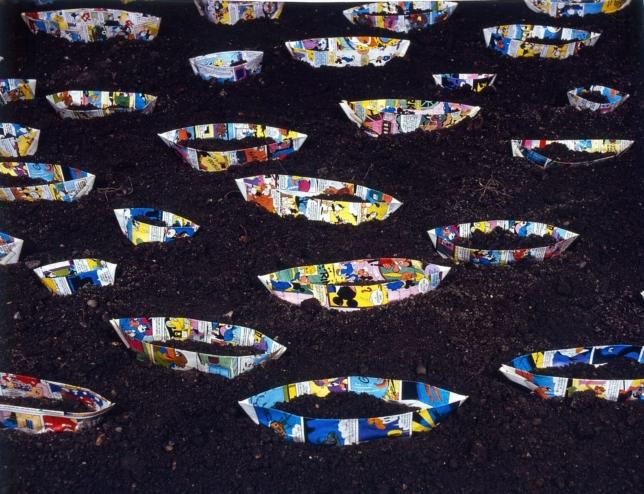 Skibe i jord, 1986, foto Per Bak Jensen